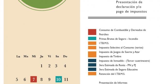 Calendario de Impuestos a Vencer, Diciembre 2016