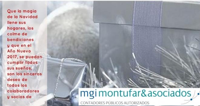 Feliz Navidad a nuestros clientes y amigos de parte de todos los colaboradores y socios de MGI Montúfar & Asociados.